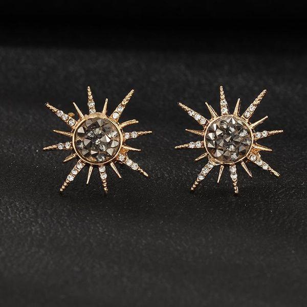 Joyería moda creativa resina grava sol flor pendientes personalidad estrella pendientes NHNZ173383