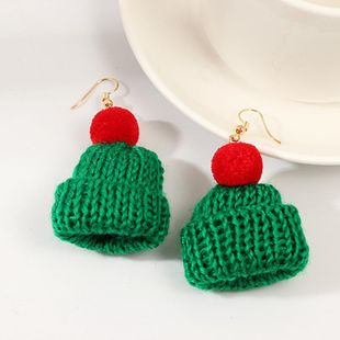 New jewelry small hat creative knitting thick wool point hat earrings earrings NHNZ173407's discount tags