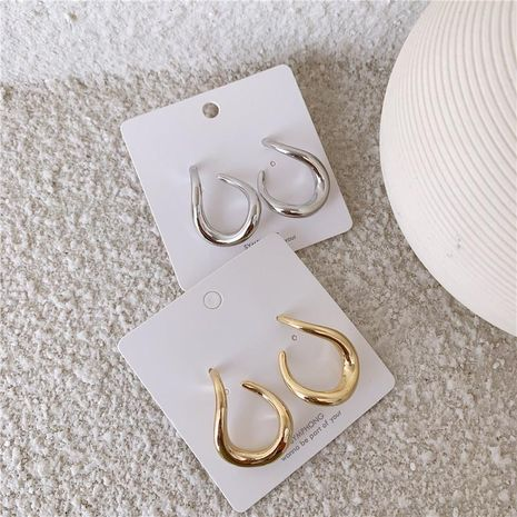 Minimalist earrings circle hipster earrings high sense NHYQ173278's discount tags