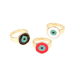 New Eye Ring Copper Plated Fashion Open Adjustable Ring NHPY173258's discount tags