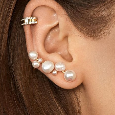 Jewelry heterosexual pearl multi-model female ear clip accessories NHLU173450's discount tags