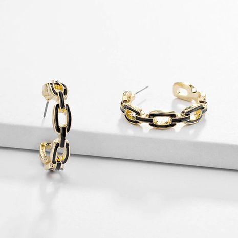 Cadena de aleación de joyería ahuecada pendientes de aceite de gota de palabra C NHLU173451's discount tags