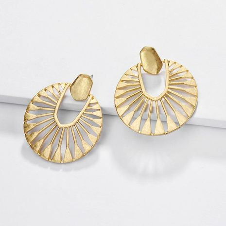 Jewelry earrings alloy hollow fan-shaped female earrings NHLU173452's discount tags