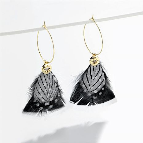 Jewelry earrings color multi-layer feather gradient color star pendant female earrings NHLU173445's discount tags