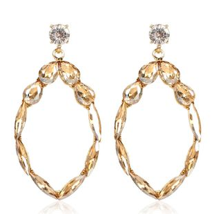 Colorful diamond earrings fashion personality geometric alloy diamond earrings female NHCT173205's discount tags