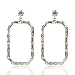 Simple exaggerated diamond-studded temperament earrings female errings NHCT173208's discount tags