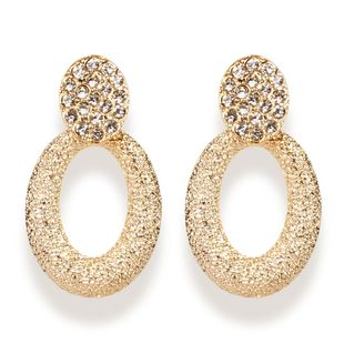 Bohemian diamond oval earrings NHCT173209's discount tags