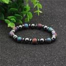 Beaded Bracelet 8mm Black Gallstone Colorful Scrub Natural Stone Bracelet Natural Stone NHYL173418