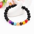 Natural stone colorful chakra energy yoga bracelet colorful agate volcanic stone 8mm bracelet bracelet NHYL173509