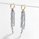 Jewelry earrings natural freshwater shell pearl woven multilayer copper earrings earrings NHLU173459