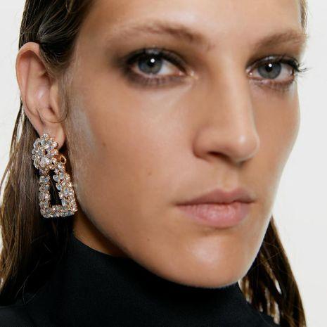 Womens Geometric Alloy  Imitation Diamond Earrings NHMD155919's discount tags