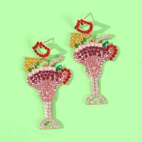 Womens Geometric Alloy Imitation Diamond Earrings NHMD155923's discount tags
