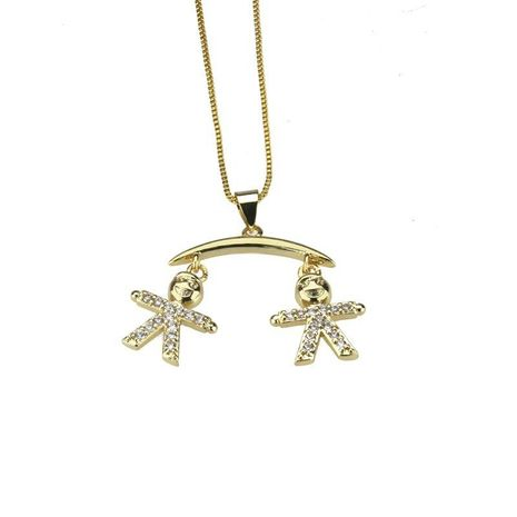 Fashion hot zirconium kid necklace NHBP155926's discount tags