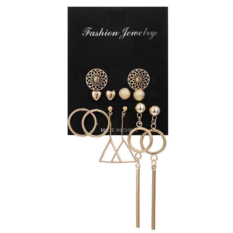 Creative openwork geometric earrings NHSD155936