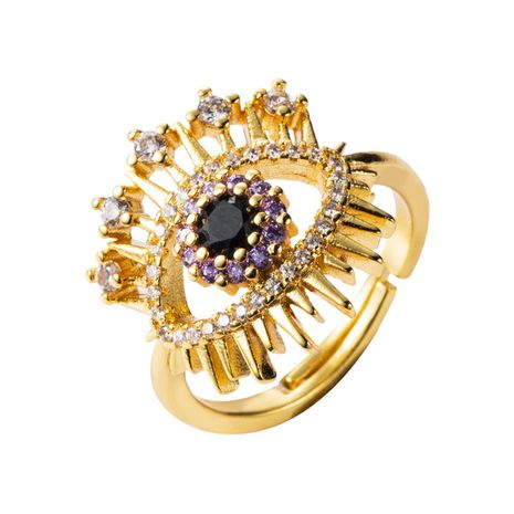 European and American micro-set zircon punk alloy ring NHLN155943's discount tags