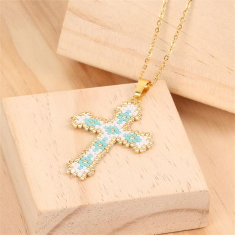Fashion simple cross stainless steel necklace NHPY155953's discount tags