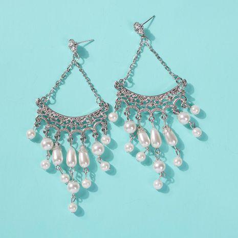 Womens Geometric Alloy  Imitation Pearl Earrings NHMD155960's discount tags