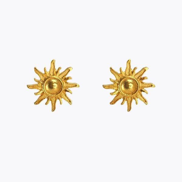 Pendientes de aleación de sol dorado de moda callejera NHOT155974