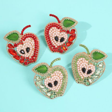 Fashion small fresh and lovely apple earrings NHMD155977's discount tags