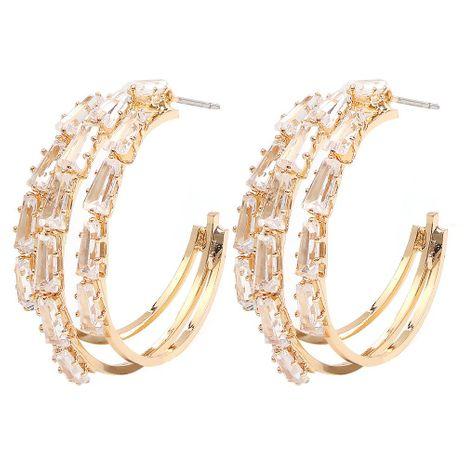 Womens Geometric Copper  Zircon Earrings NHMD155980's discount tags