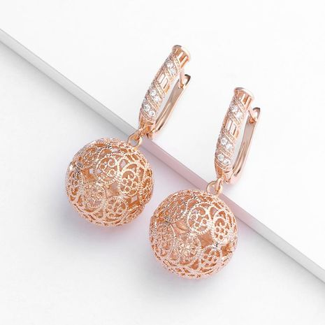 European and American classical diamond rose gold earrings NHAS155987's discount tags
