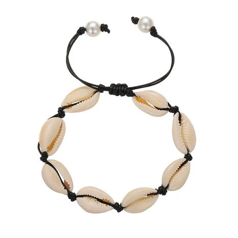 European and American folk style shell pearl weave bracelet NHSD155988's discount tags