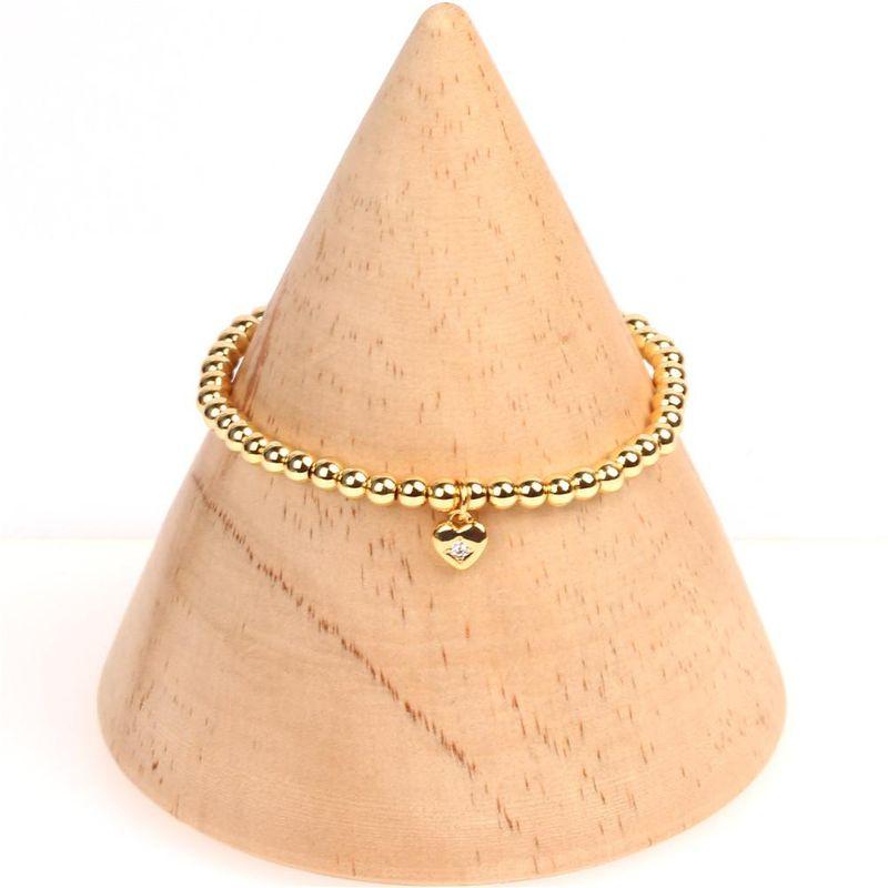 Womens Heart-Shaped Diamond Bracelets & Bangles NHPY155989