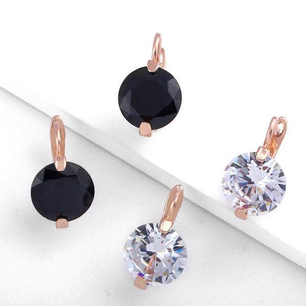 Aretes de aleación de enchapado geométrico para mujer Aretes NHAS156006