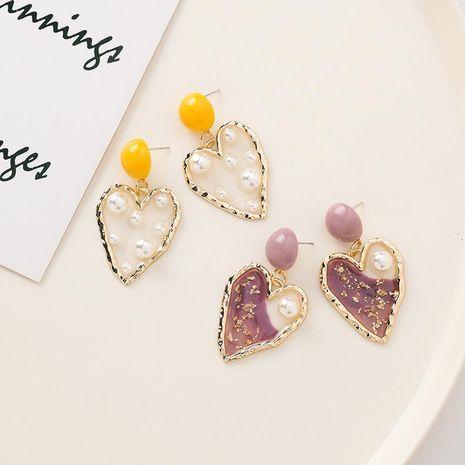 Fashion size pearl heart earrings NHMS156013's discount tags