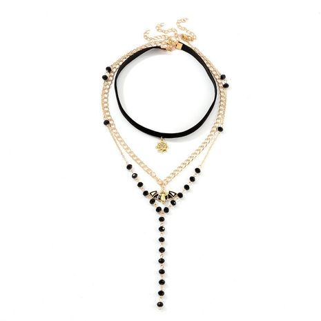 Fashion Multilayer Pendant Halloween Necklace NHNZ156031's discount tags