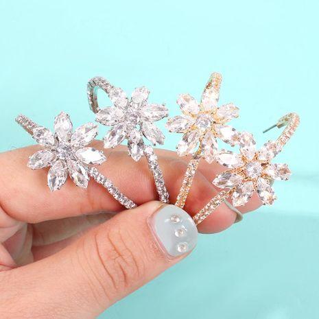 Fashion big flower ochre earrings NHMD156027's discount tags