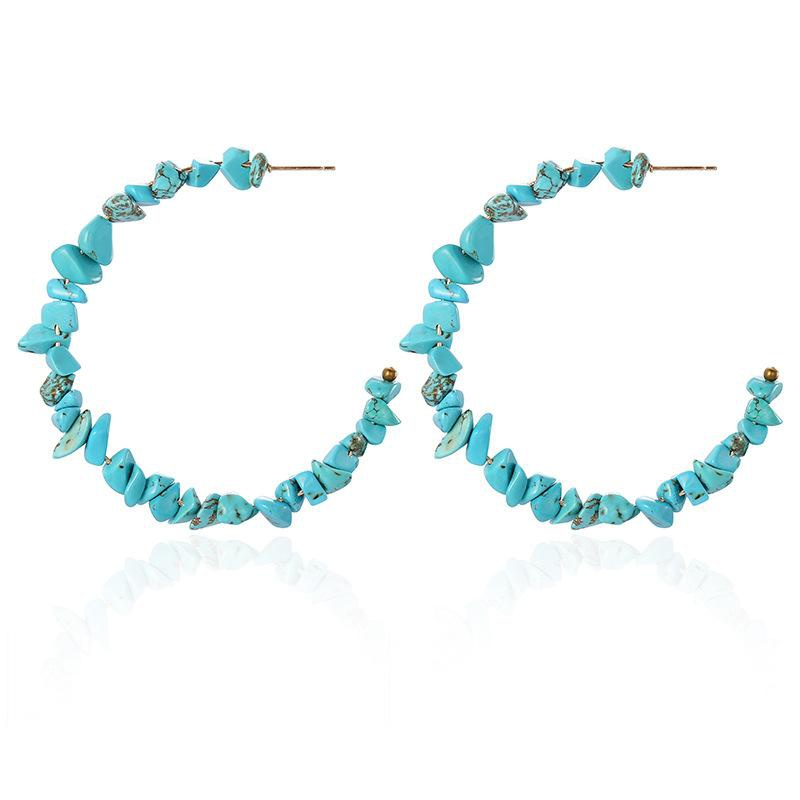 Bohemian beach wind turquoise earrings NHSD156036