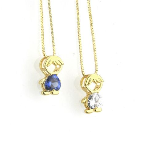 Fashion inlaid color zirconium boy girl necklace NHBP156038's discount tags