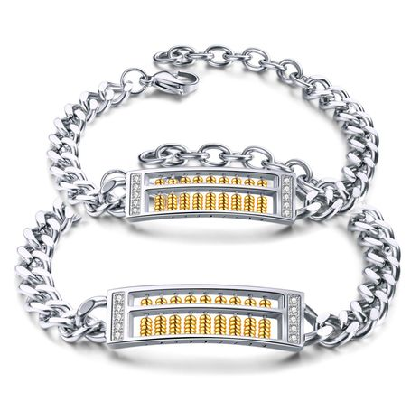 Stylish stainless steel dialable abacus bracelet NHOP156047's discount tags