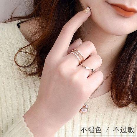 Womens Geometric Plating Titanium Steel Rings NHOK156054's discount tags