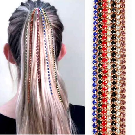 Womens Inline Electroplated Aluminum Hair Accessories NHCT156057's discount tags