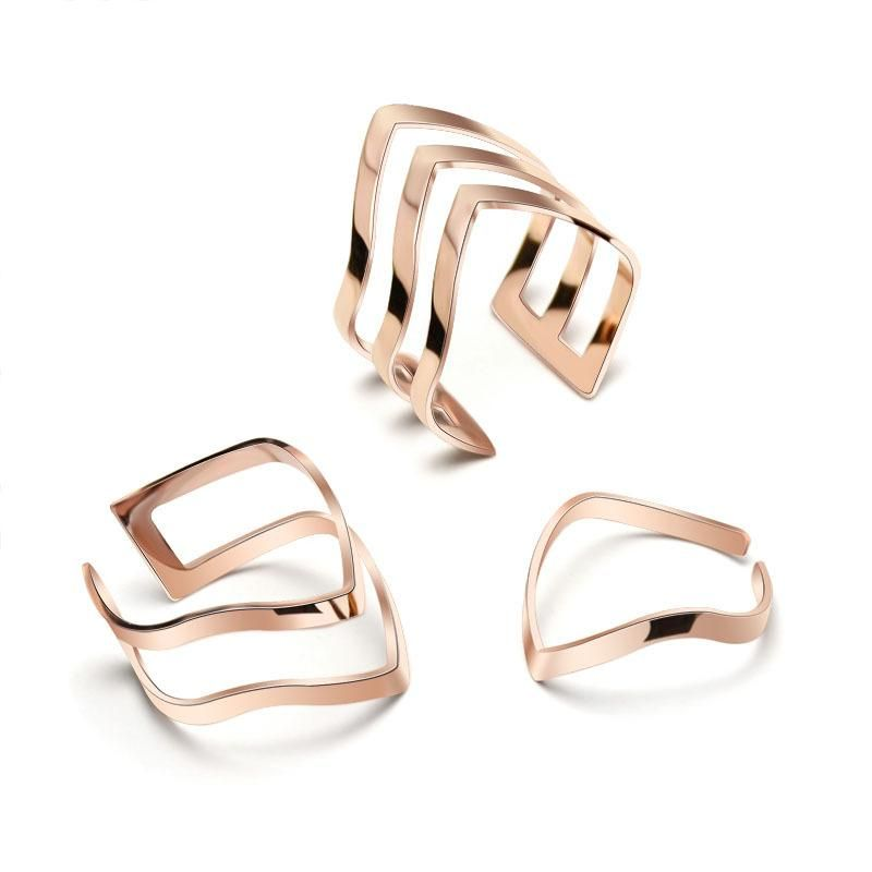 Pointed hollow titanium steel ring NHOK156060