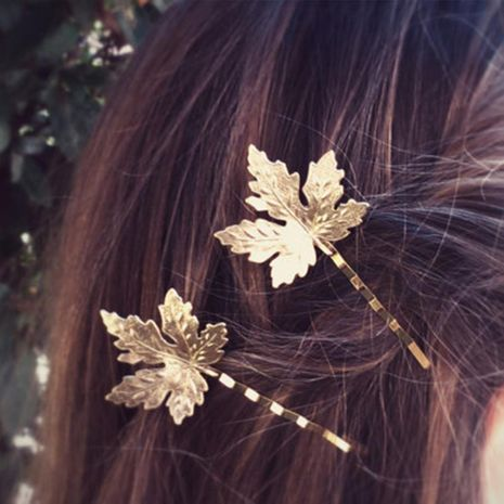 Womens leaf plating alloy Hair Accessories NHDP156064's discount tags