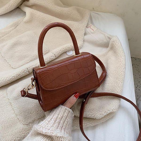 Retro fashion crocodile handbag handbag new solid color shoulder Messenger bag NHPB173538