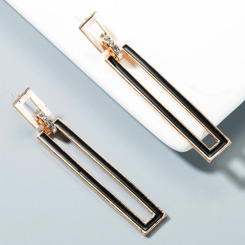 Fashion Luxury Earrings Women's Alloy Drops Oil Stud Earrings NHLN173653