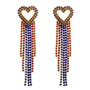Long claw chain tassel earrings female diamond heart earrings NHLN173650's discount tags