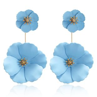 Flower Stud Earrings New Fashion Sweet Color Double Layer Spray Flower Earrings NHPF173800's discount tags