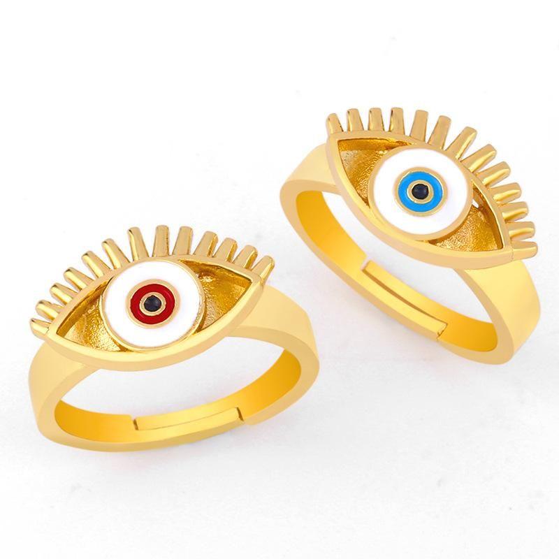 AliExpress wish hot 2019 creative European and American style eye drops oil ring ring female crossborder accessories rij11 NHAS173682