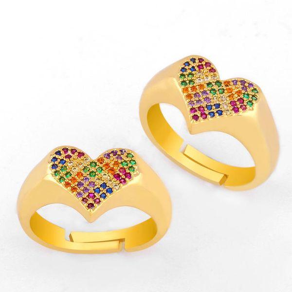 Rings love ring rainbow jewelry diamond ring NHAS173680
