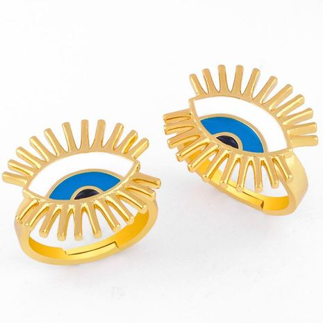 Devil's Eye Ring Female Drop Oil Open Ring NHAS173693's discount tags