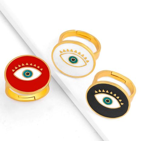 Creative drip oil demon eyes round ring open ring female NHAS173702's discount tags
