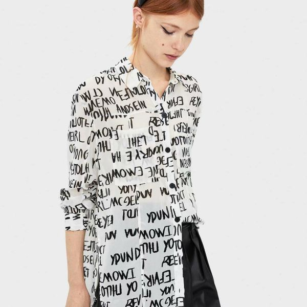 Blusa de invierno de manga larga con blusa NHAM173747