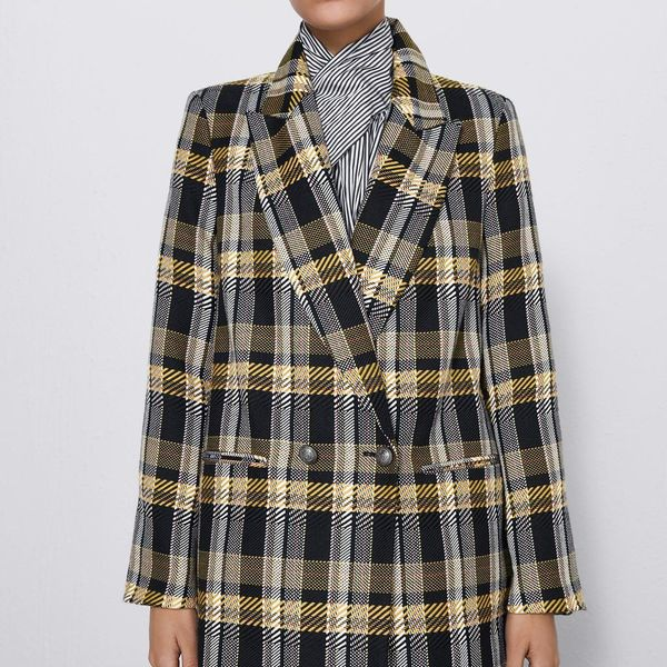 New professional wear women's plaid blazer NHAM173793