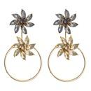 Multilayer flower diamond earrings female detachable female fashion earrings NHLN173635