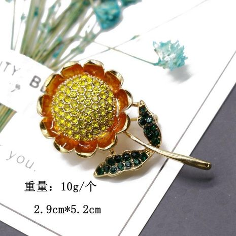 Plant flower shape brooch pin yellow full sun flower brooch sweater silk scarf pin NHOM174112's discount tags